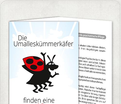 DIN lang Flyer mit Um-alles-kümmer-Käfer