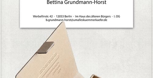 einseitig bedruckte Visitenkarten mit Marienkäfer