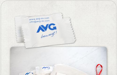 AVG Werbegeschenk Traubenzucker