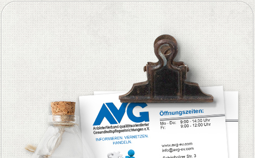 allgemeine Visitenkarte im AVG-Design der Website