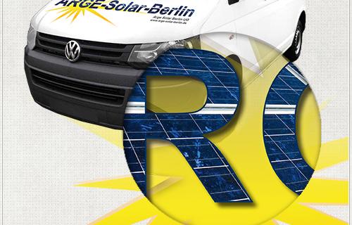 Detail des Autoaufklebers für Arge-Solar