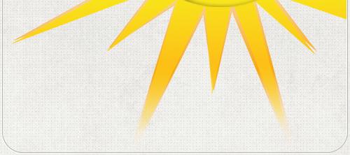 gezeichnete Sonnenstrahlen für das Logo