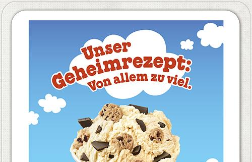 Eis Werbung von Lekkerland