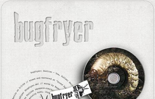 CD-Design für die Band Bugfryer