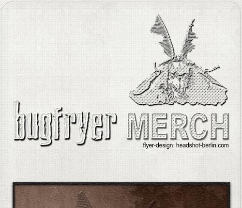 grafische Gestaltung des Bugfryer-Merchs für Website