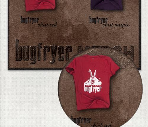 Produktfotos von den T-Shirts, Pins und weiteren Werbeartikeln