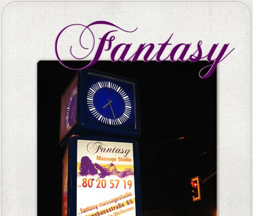 CityLight Plakat für das Fantasy Massage Studio in Berlin