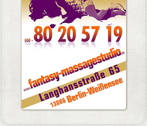 Gestaltung der Plakate für Massage Studio