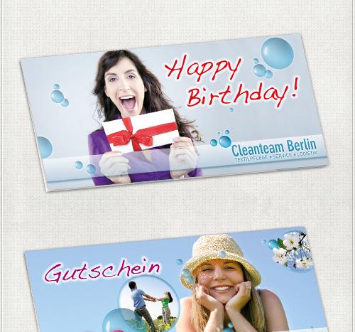 individuelle Bildbearbeitung und Gestaltung von Geburtstags-Gutscheinen und Gutscheine für Ostern