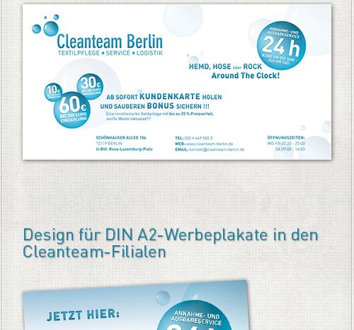 Gestaltung des 2m x1m großen Werbeplakates in der Berliner Kulturbrauerei