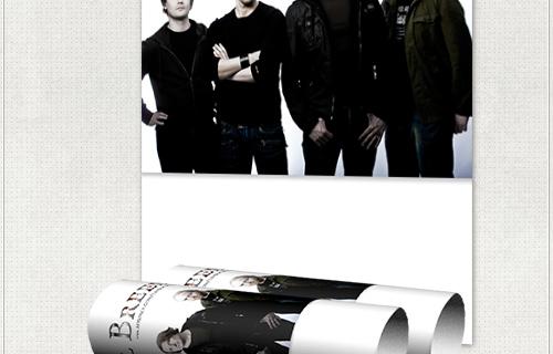 Tourplakat mit Platz für Tourdaten