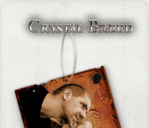 Schriftzug für die Band Crystal Breed