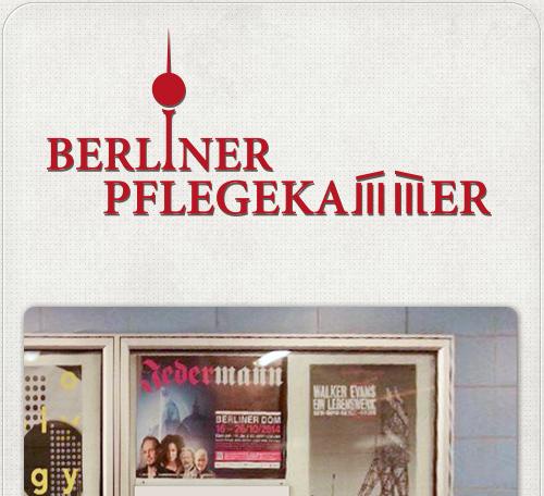 Gestaltung des Logos für die Berliner Pflegekammer mit Berliner Wahrzeichen