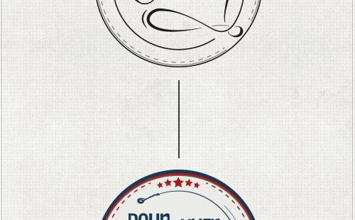 die Nachzeichnung des Logos und die Wahl der Farbe