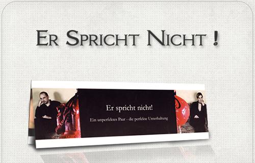 Werbe-Folder für Theaterstück