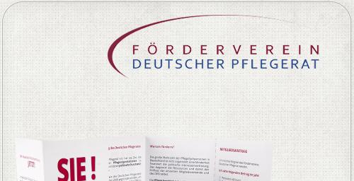 Flyer für den Förderverein Deutscher Plegerat