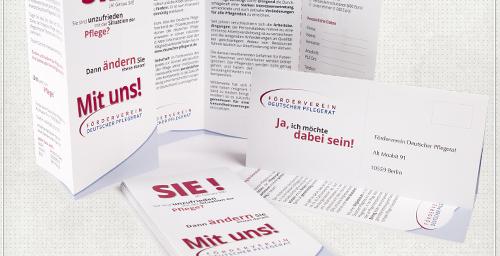 Flyer sechsseitig mit Antwortkarte zum abtrennen