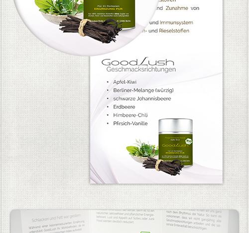 Produktfotos der Dosen für den Flyer