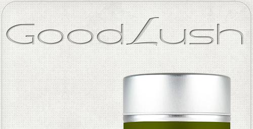 Gestaltung eines Schriftzuges für das Diätmittel Good Lush