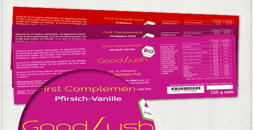 Label-Design in verschiedenen Farben