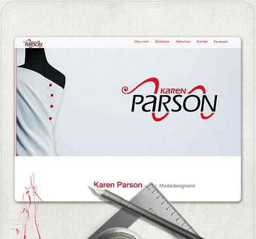 individuelles Webdesign für Maßatelier und Nähschule Karen Parson aus Berlin Prenzlauer Berg