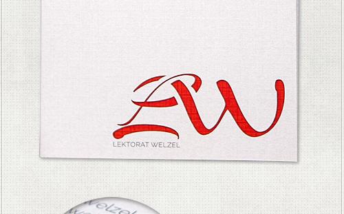 individuelles Flyer-Design für Lektorat Welzel