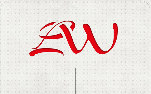 Logo mit ineinander geschwungenen Anfangsbuchstaben L und W