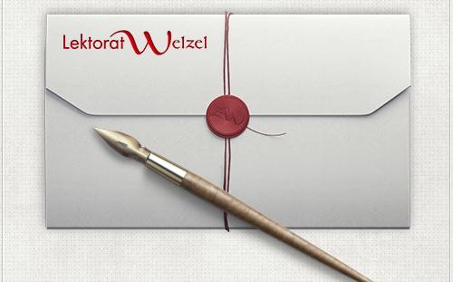 Schriftzug-Design für Lektorat Welzel