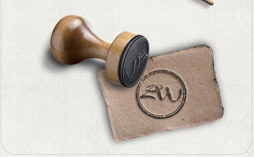 Logo-Design mit Anfangsbuchstaben