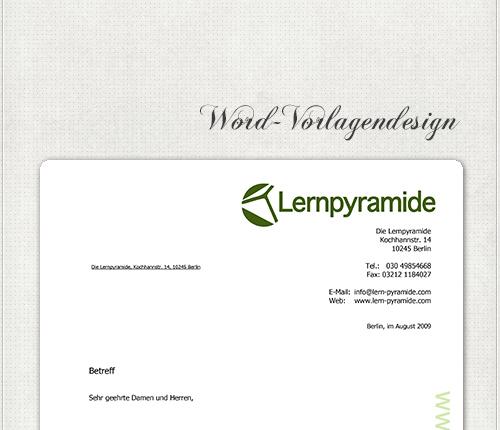 Design für Microsoft Word Briefpapier Vorlagen Design