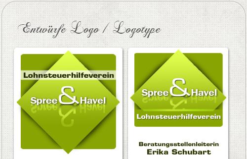 Entwürfe für das Logo