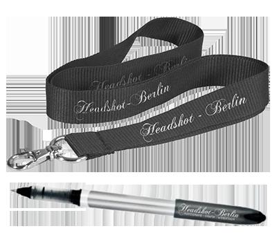 Schlüsselband und Stift