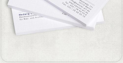 Visitenkarten-Design für Anwälte der Kanzlei Arf
