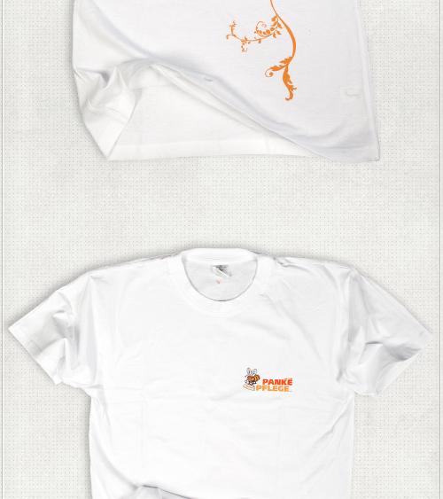 T-Shirt Design für Frauen und Männer mit Brust-Logo Druck