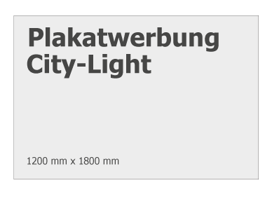 Größe Plakat City-Light