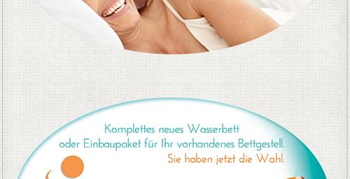 individuelles Design ovaler Flyer für Potsdamer Wasserbetten