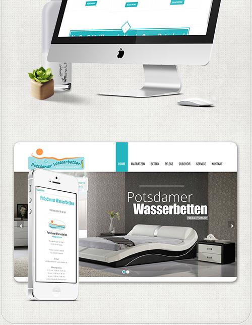 Worpress -  Website optimiert für große und kleine Bildschirme