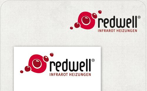 Logo von Redwell für das Messe-Banner