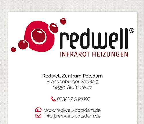 Kontak Banner-Design für Redwell in Potsdam mit 2,30 x 1,40 Metern
