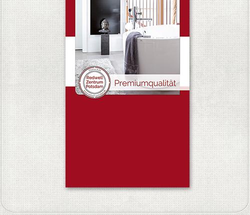 Messebanner Gestaltung mit Infrarotheizung für Badezimmer für das Redwell Zentrum Potsdam