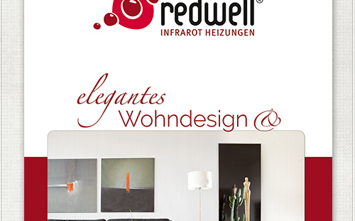 Messebanner - Gestaltung für Infrarotheizungen von Redwell