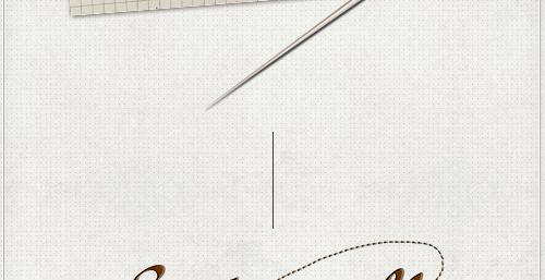 gezeichnete Nadel für das Logo