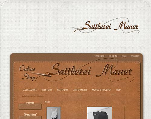 individuelles Shop-Design für Sattlerei Mauer aus Treuenbrietzen