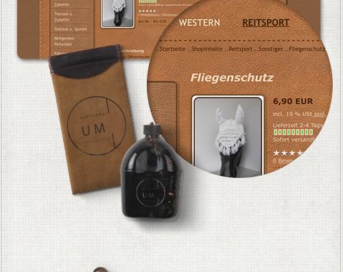 Detailansicht der Gestaltungselemente für Navigation und Produktpräsentation im Onlineshop