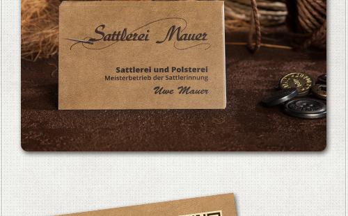 Foto mit Vorderseite der Visitenkarte mit Logo