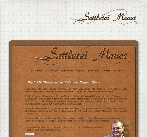 individuelle Gestaltung eines Webdesigns und Logodesign für Sattlerei Mauer aus Treuenbrietzen