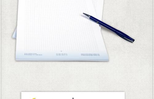 DIN A4 Schreibblock mit individueller Gestaltung