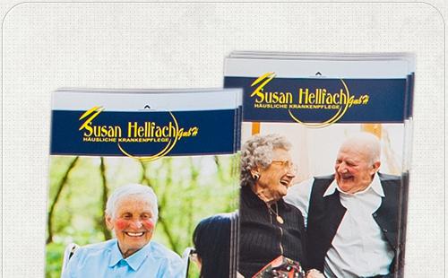Gestaltung von zwei Flyern für Berliner Pflegedienst