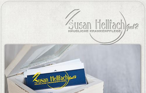 zweiseitige Visitenkarten für Berliner Pflegedienst
