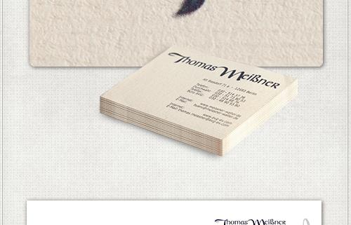 Visitenkarten auf Spezialpapier